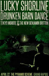 Drunken Barn Dance Poster by Jenny Harley