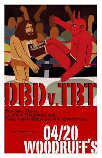 Awesome Drunken Barn Dance vs The Boys Themselves Concert Poster